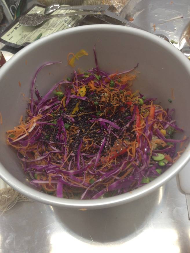 Raw Pad Thai. Made with spiralized veggies.